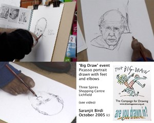 'Big Draw National Campaign for Drawing' events, by Saranjit Birdi