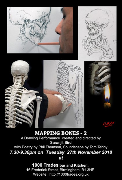 Mapping Bones 2- performance and drawing