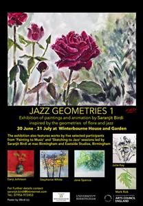 Jazz Geometries 1-Exhibition, Winterbourne House and garden, by Saranjit Birdi