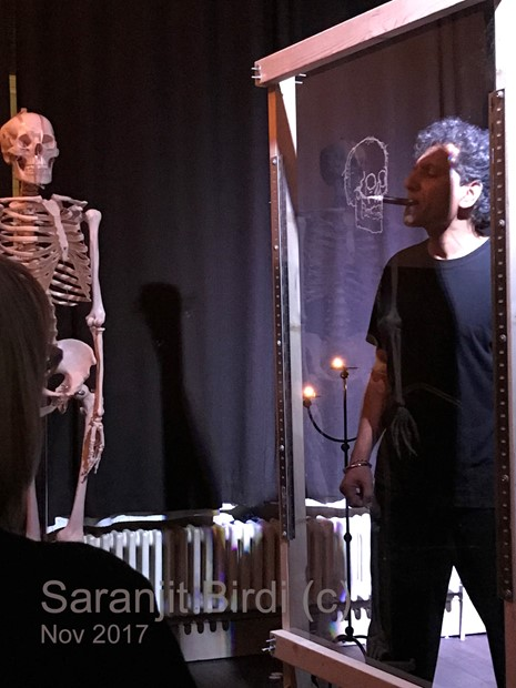 Mapping Bones 2- performance and drawing - Credit: Saranjit Birdi
