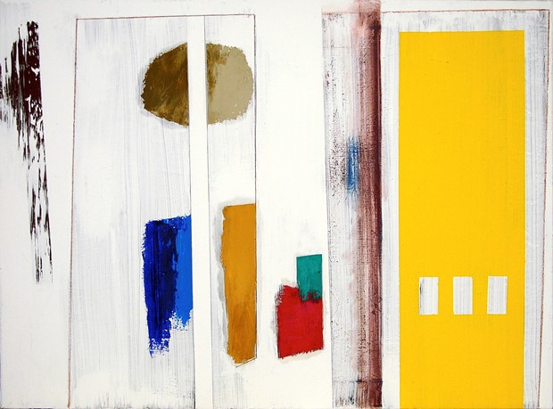 'garden still life song [split potato blues with carrot, tomato, and yellow shed]'