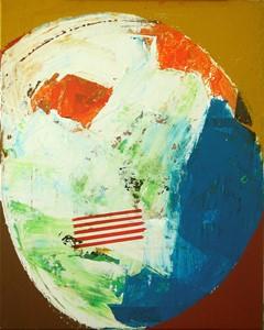 'the artist: his skull (inner profile version)', by Alan Slater