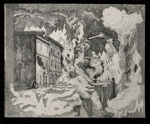 THe destruction of Tiverton High Street, by Richard Monahan