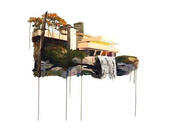 Falling Water print, by Rosie Greenhalgh