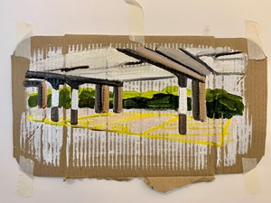Paper Car Park, by Rosie Greenhalgh