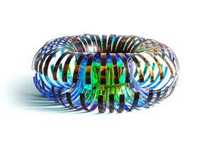 Blue coil, by Jessica Lloyd-Jones