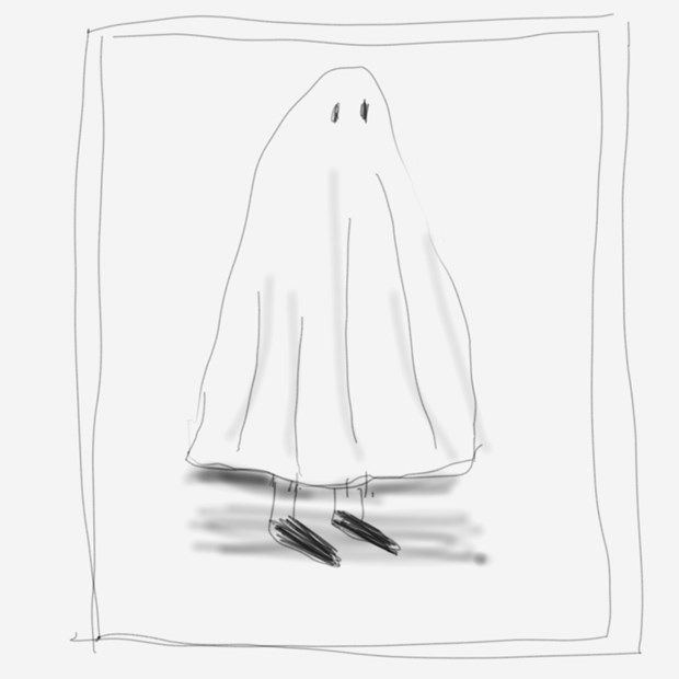 A ghost in a window