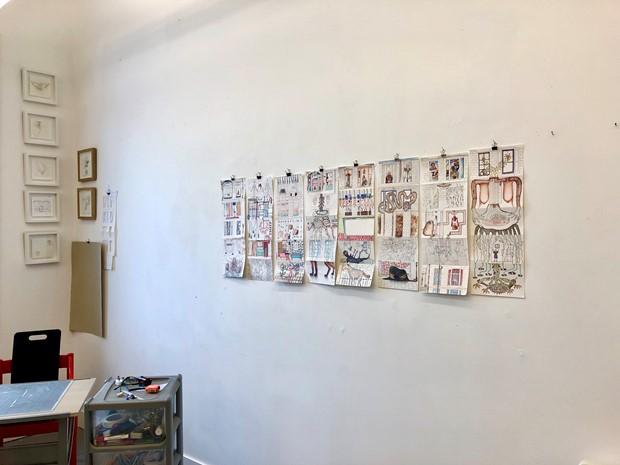 Tenement Street preparatory drawings