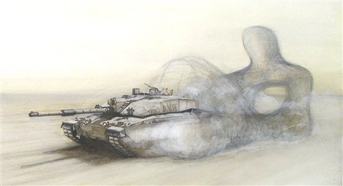 Henry Moore Tank Drawing #5