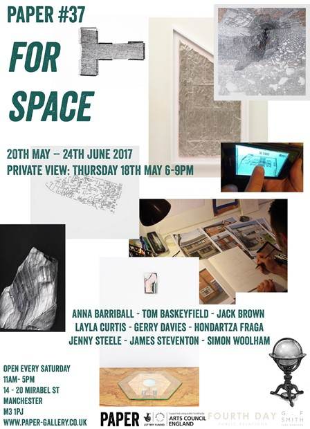 'for space' curated by Simon Woolham, by Simon Woolham
