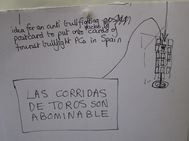 Action for anti bullfighting