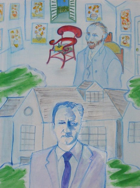 Spare room: spare house. Van Gogh and David Cameron compared.