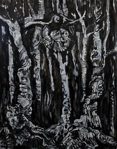 Spectral Illusion (Self portrait as hawk), by Dean Melbourne
