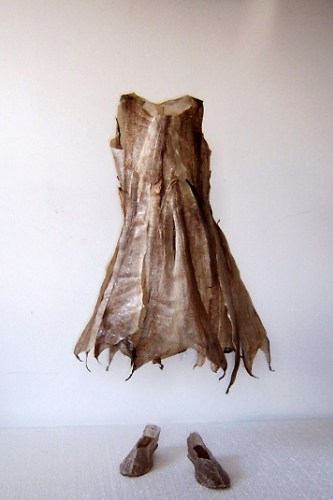 Absent Child's Dress and Shoes