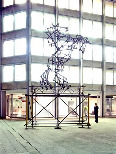 Horse Scaffolding Sculpture