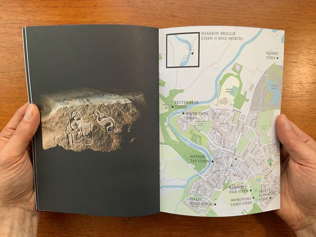 The Kemnay Steens: A guide to the Kemnay Steens public art project, Kemnay Aberdeenshire by artist, by James Winnett