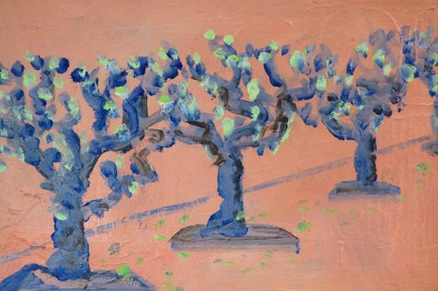 RECEDING PLANE TREES, GUERNICA (study)