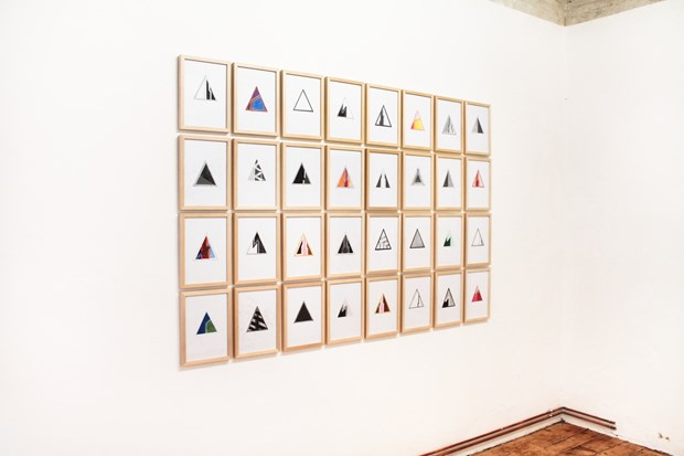 Rosemary Hogarth, 32 Triangles, 2013