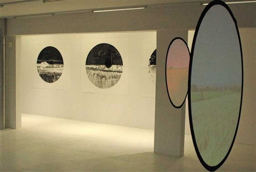 Touching:clear installation view of 'Two Hundred and forty seconds' digital projection