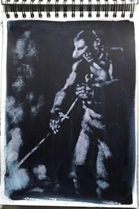 Raking (drawing), by Jane Stobart