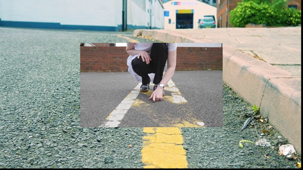 Video Performance screen shots: 'Charles Street' - part of Vein body of work - Credit: Laura Crow and Angela Kennedy