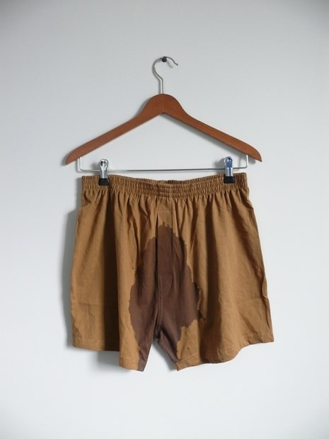COSTUMES OF WAR - Pissed Pants - Abandoned Medically Discharged  British Army Pants. Before/After