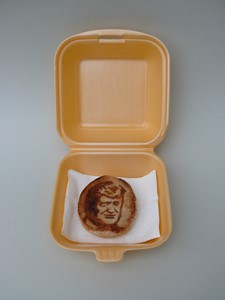 'Reliquary' 'Effes Toasted Burger Muffin Donald Trump Apparition', by Linda Hubbard