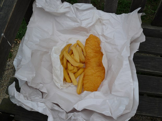 Life At The Bottom Of The Pile - The Gift...A Treat For Some....Make Every Day A Fish & Chip Day.