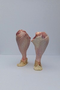 'Not in my Fridge', 'Legs, with Skin Feet ', by Linda Hubbard