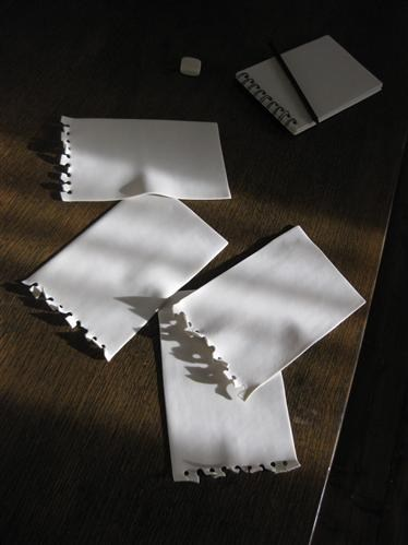 Porcelain Torn Out Note Pad Page