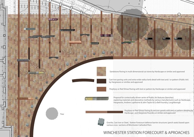 Winchester Train Station Public Realm - Credit: Christopher Tipping