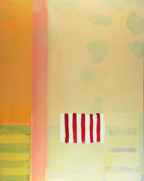 James Allan, Untitled - 5 red stripes,