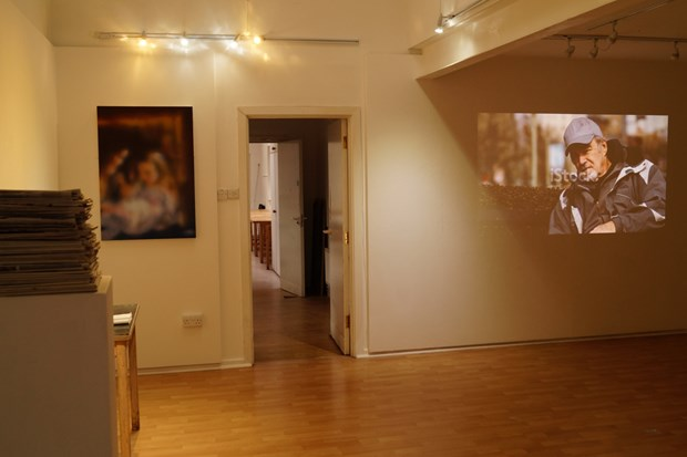 Installation image for 'Interference', Oriel Canfas, Cardiff