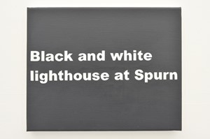 Black and white lighthouse at Spurn (Spurn series), by Matthew Herring