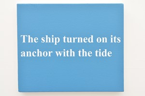 The ship turned on its anchor with the tide (Spurn series), by Matthew Herring