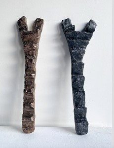 Dogon Ladders I and II, by Chantal Powell