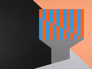 Slant (Blue & Orange), by Emma Bennett