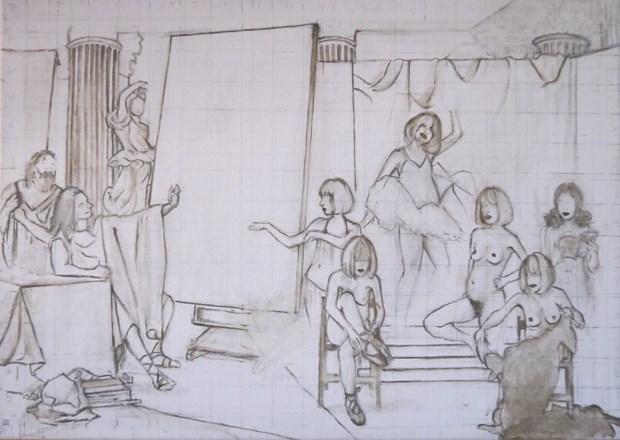 Study for Zeuxis choosing Helen of Troy (Self-Portrait)