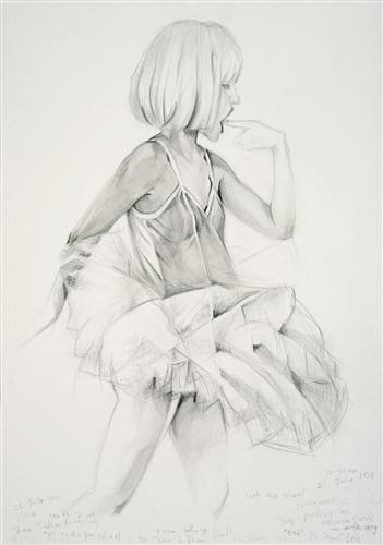 Pregnant Self-Portrait as Ballerina, (eat), (2002)