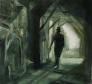 Oil Painting:Inspired by Film Noir, by Anne Teahan