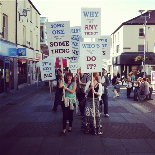 Placard Parade (Bridgend Arts Residency)