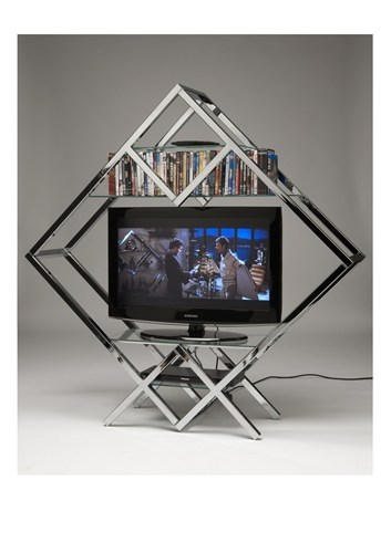 Milo Baughman Style TV Stand