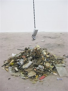 Rubbish pile and fan, by Louise Winter