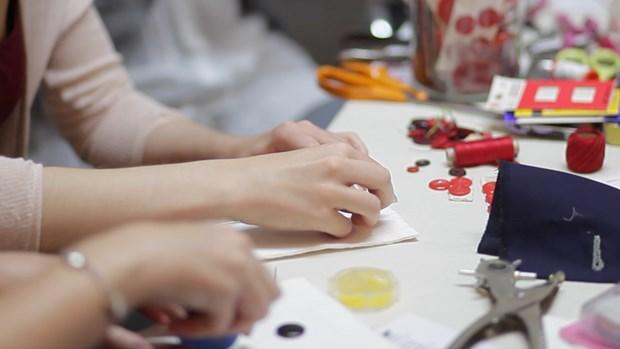 Cherry Colour Buttonholes (still)