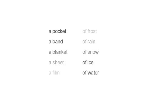 a film of water