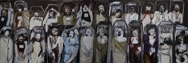 Steph Goodger, Les Non-Réclamés (The Unclaimed) Diptych, 2015