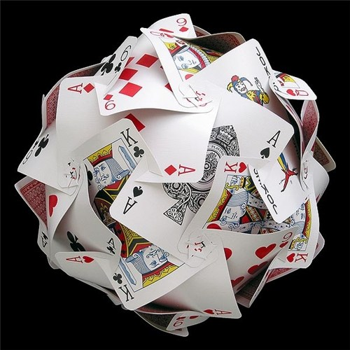 Playing card sphere