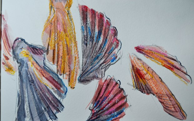 Study of shells from a sketchbook.
