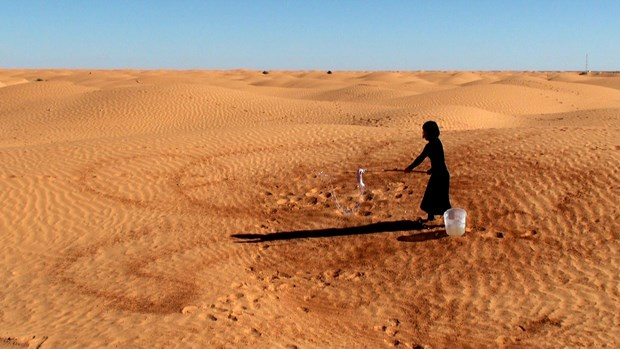 Splashing Water on the Sahara Desert