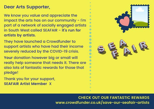 Crowdfunder: SAVE OUR SEAFAIR ARTISTS